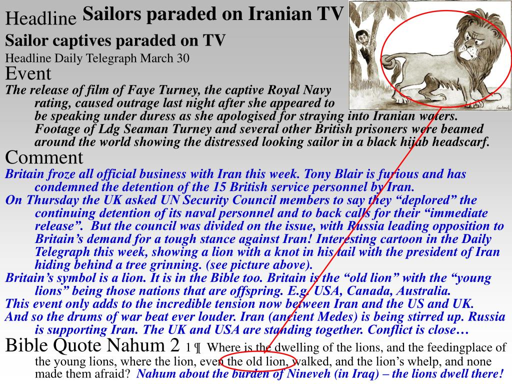 Sailors paraded on Iranian TV