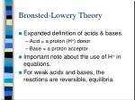bronsted lowery theory