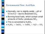environmental note acid rain