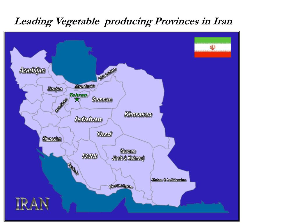Leading Vegetable  producing Provinces in Iran