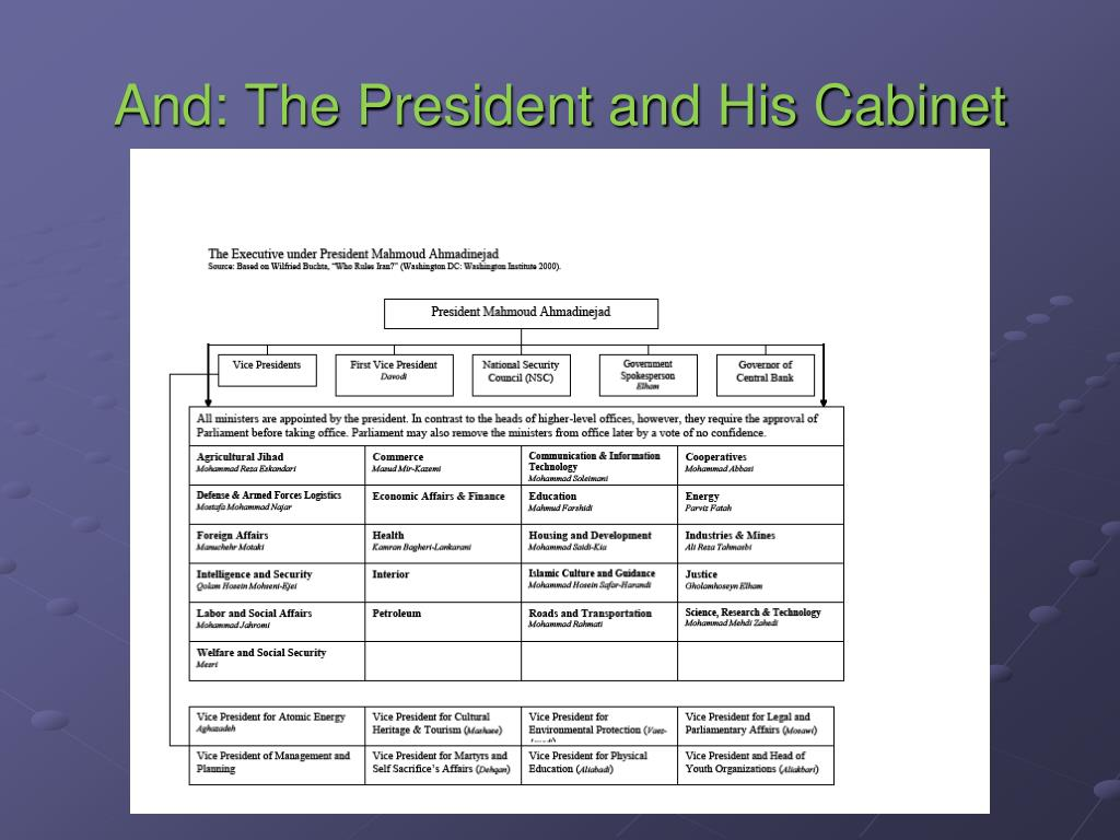 And: The President and His Cabinet