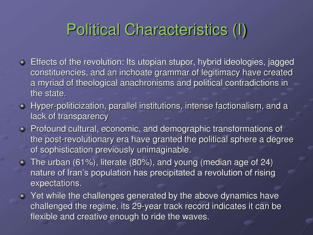 Political Characteristics (I)