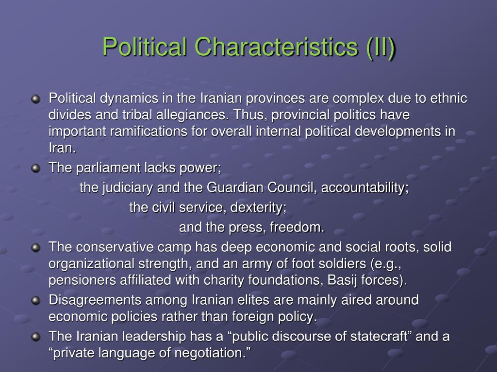 Political Characteristics (II)