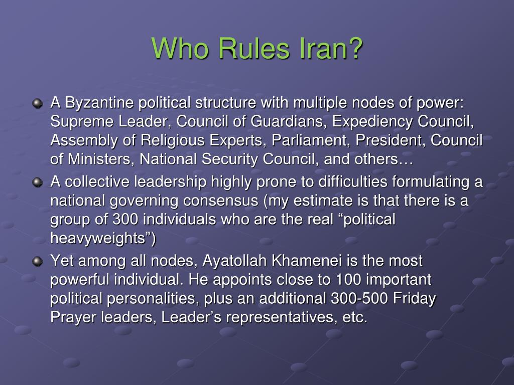 Who Rules Iran?