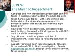 5 1974 the march to impeachment