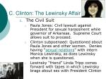 c clinton the lewinsky affair