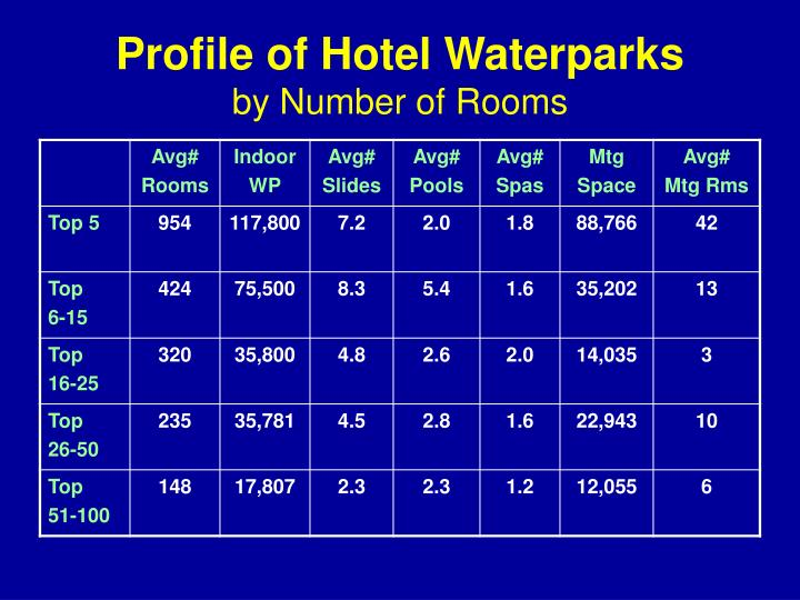 Profile of Hotel Waterparks
