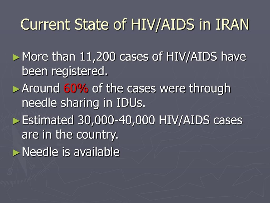 Current State of HIV/AIDS in IRAN
