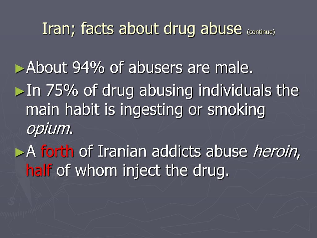 Iran; facts about drug abuse