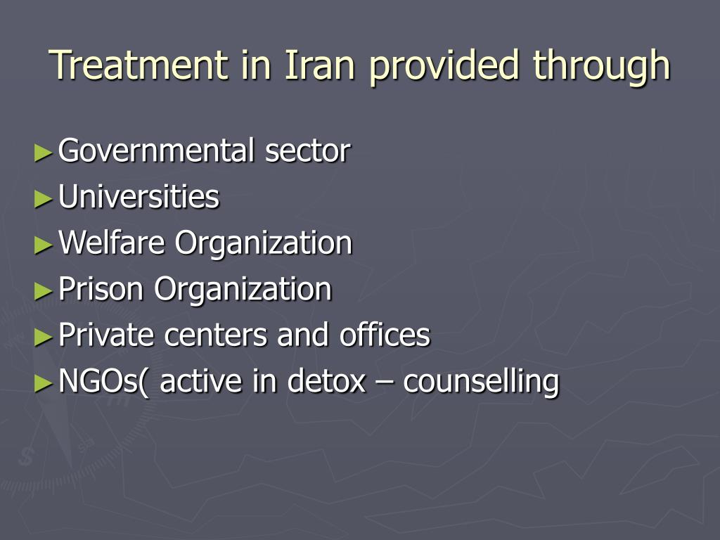Treatment in Iran provided through