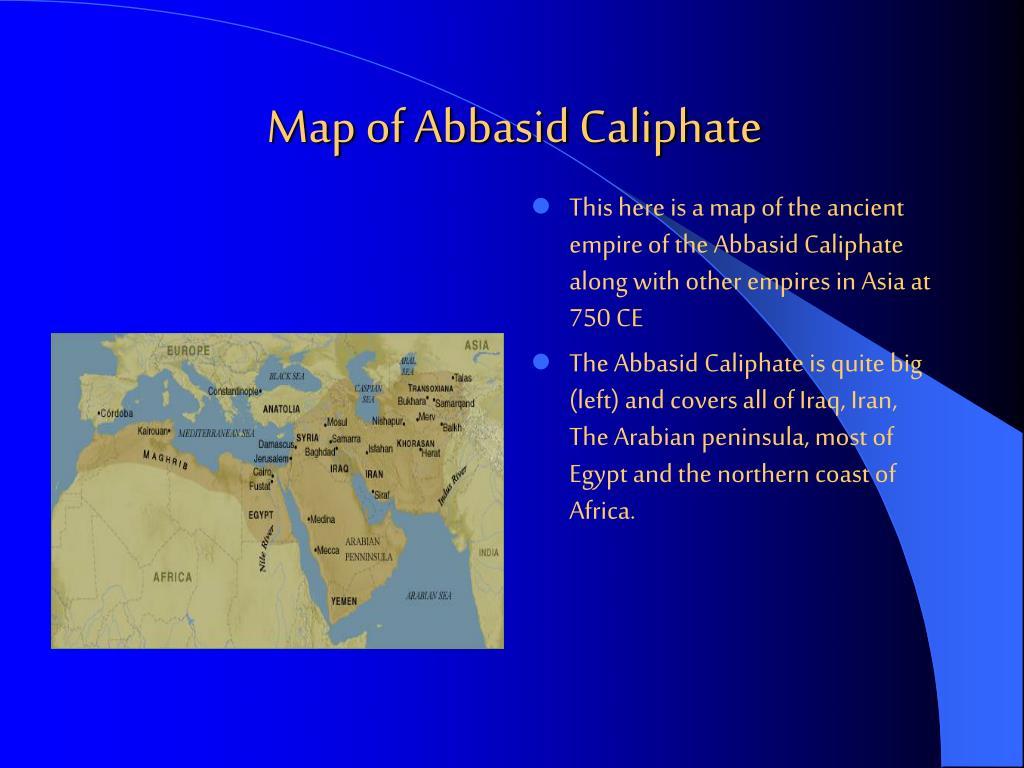 Map of Abbasid Caliphate