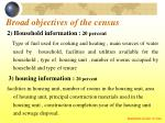 broad objectives of the census18