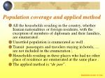 population coverage and applied method