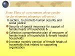 some plans of government about gender in development planning collection