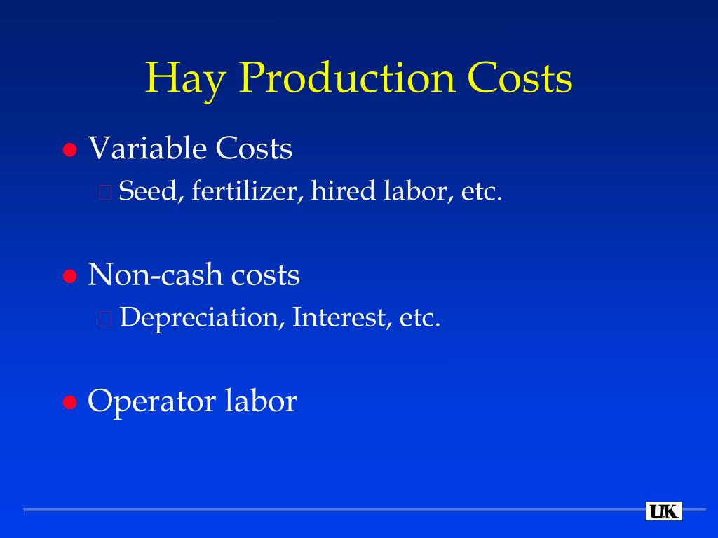 Hay Production Costs