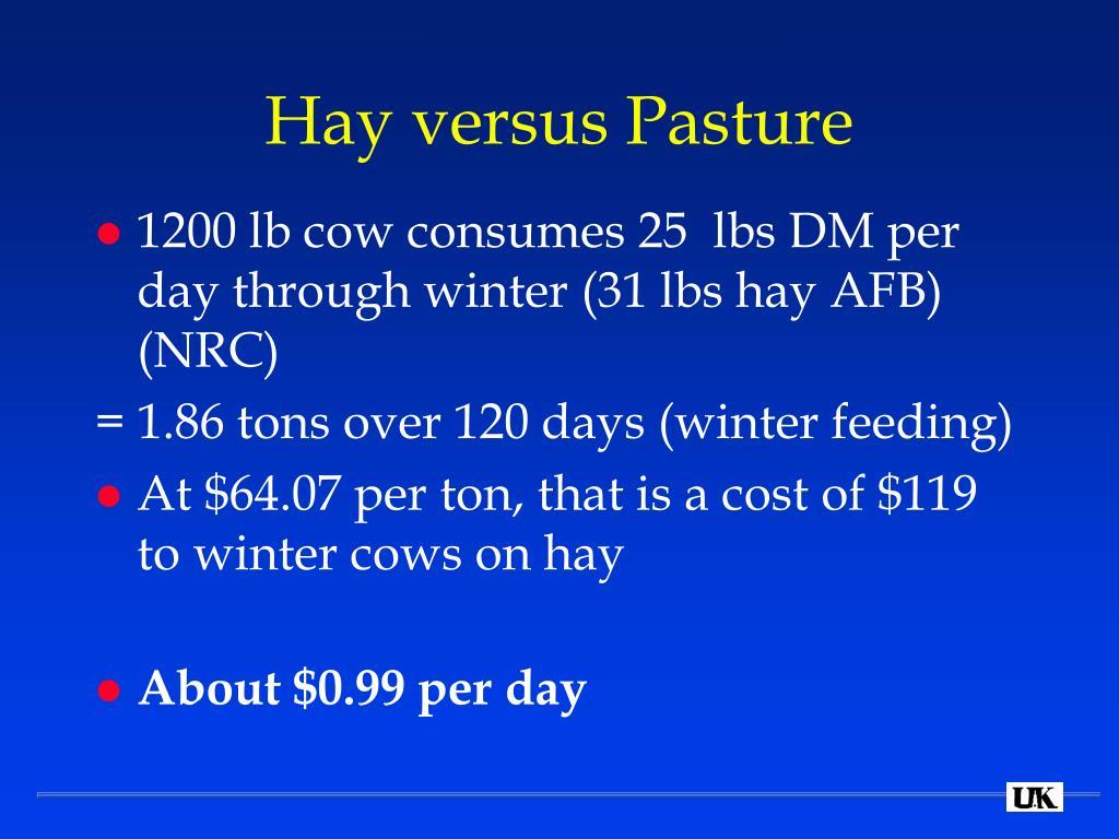 Hay versus Pasture