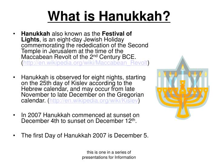 What is hanukkah