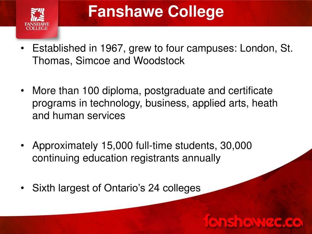 Ppt Fanshawe College Powerpoint Presentation Free Download Id 1121830