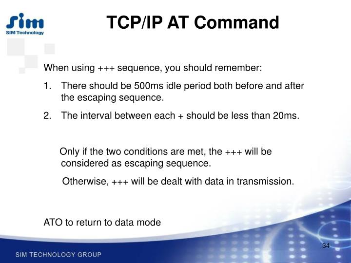 TCP/IP AT Command