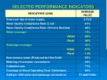 selected performance indicators
