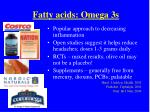 fatty acids omega 3s