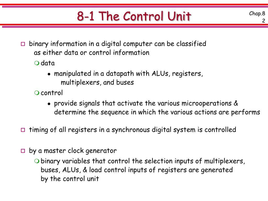 8-1 The Control Unit