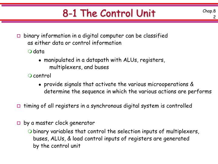 8 1 the control unit