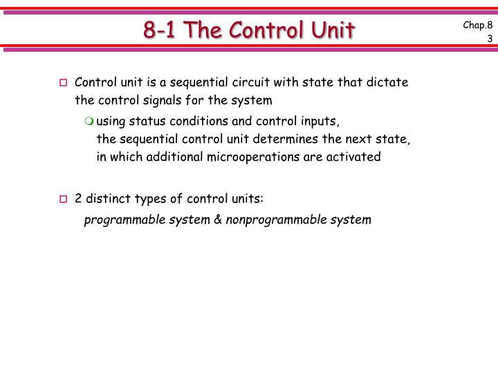 8 1 the control unit3