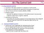 8 1 the control unit4