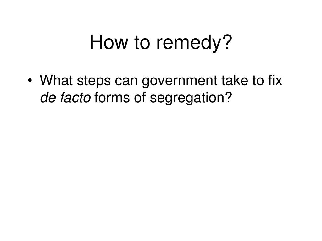 How to remedy?