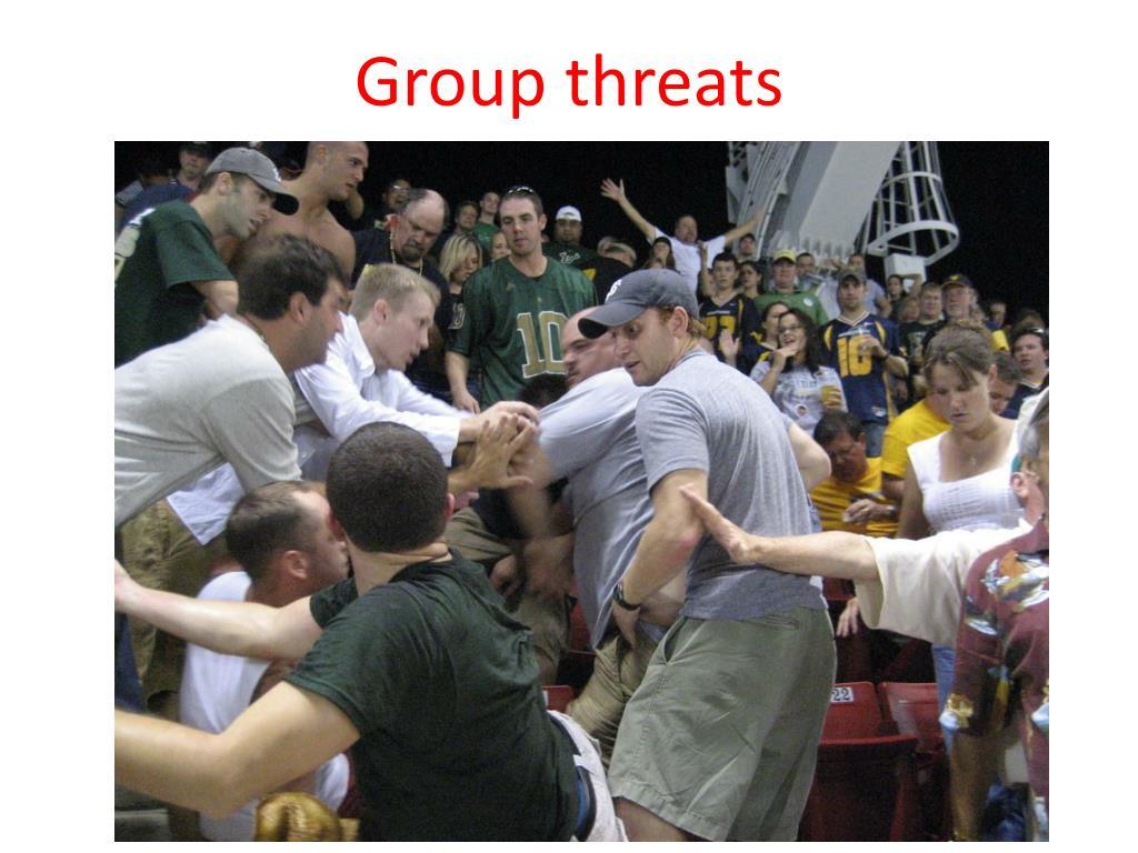 Group threats