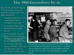 the 1960 greensboro sit in