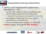 interoperability conformance specifications