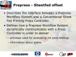 prepress sheetfed offset