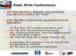 read write conformance