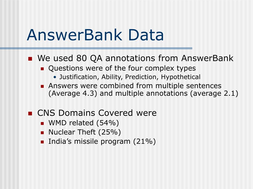 AnswerBank Data