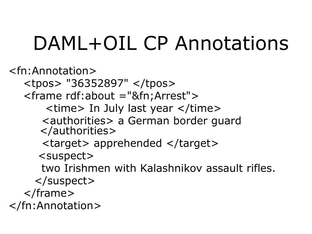 DAML+OIL CP Annotations