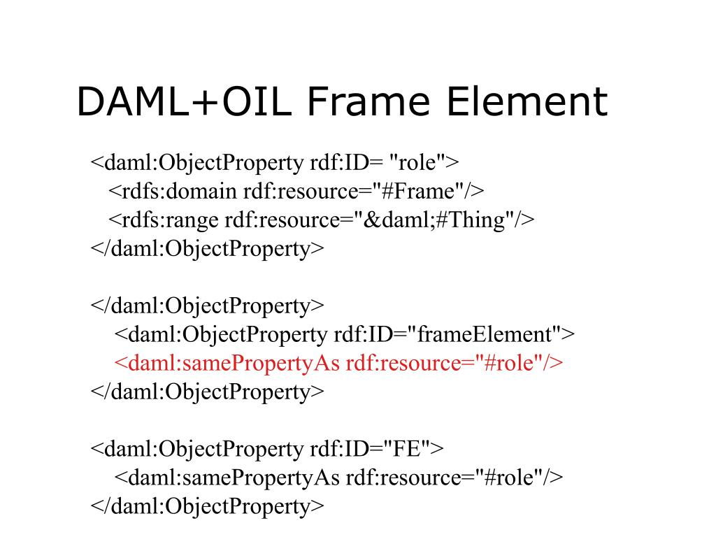 DAML+OIL Frame Element