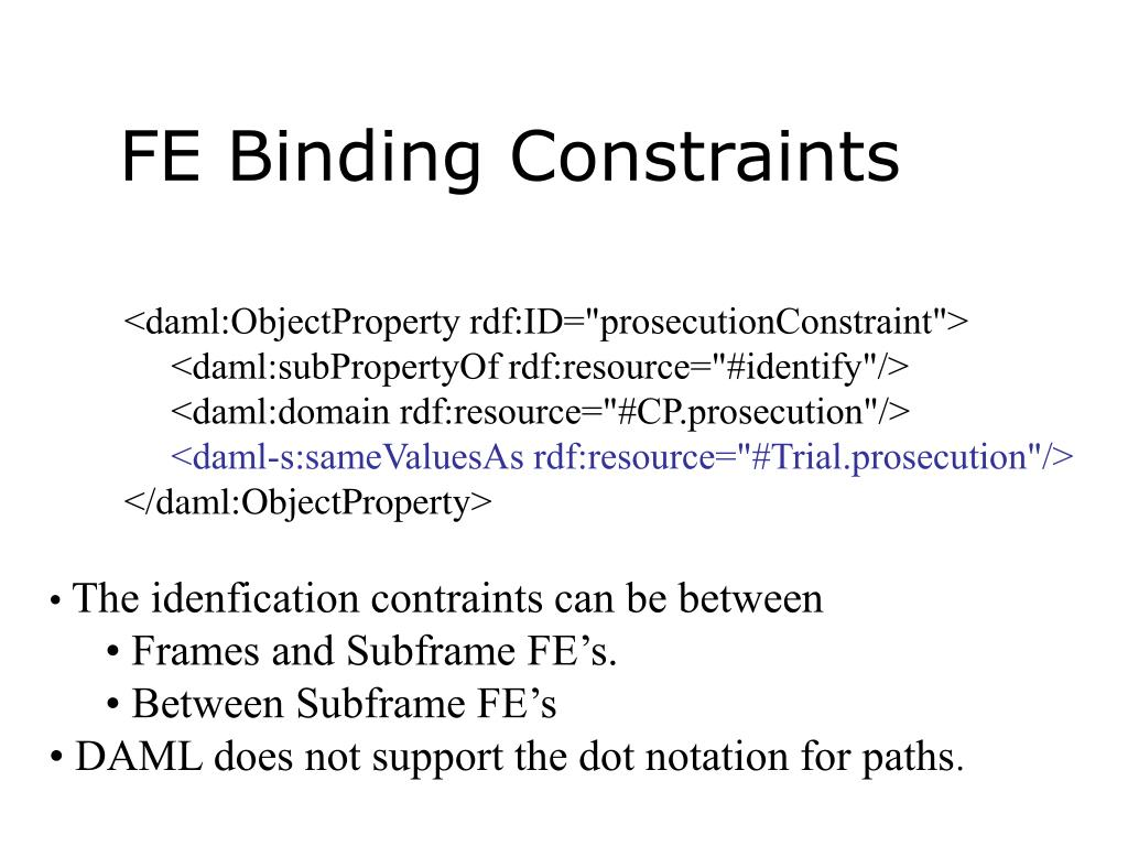 FE Binding Constraints