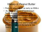 history of peanut butter
