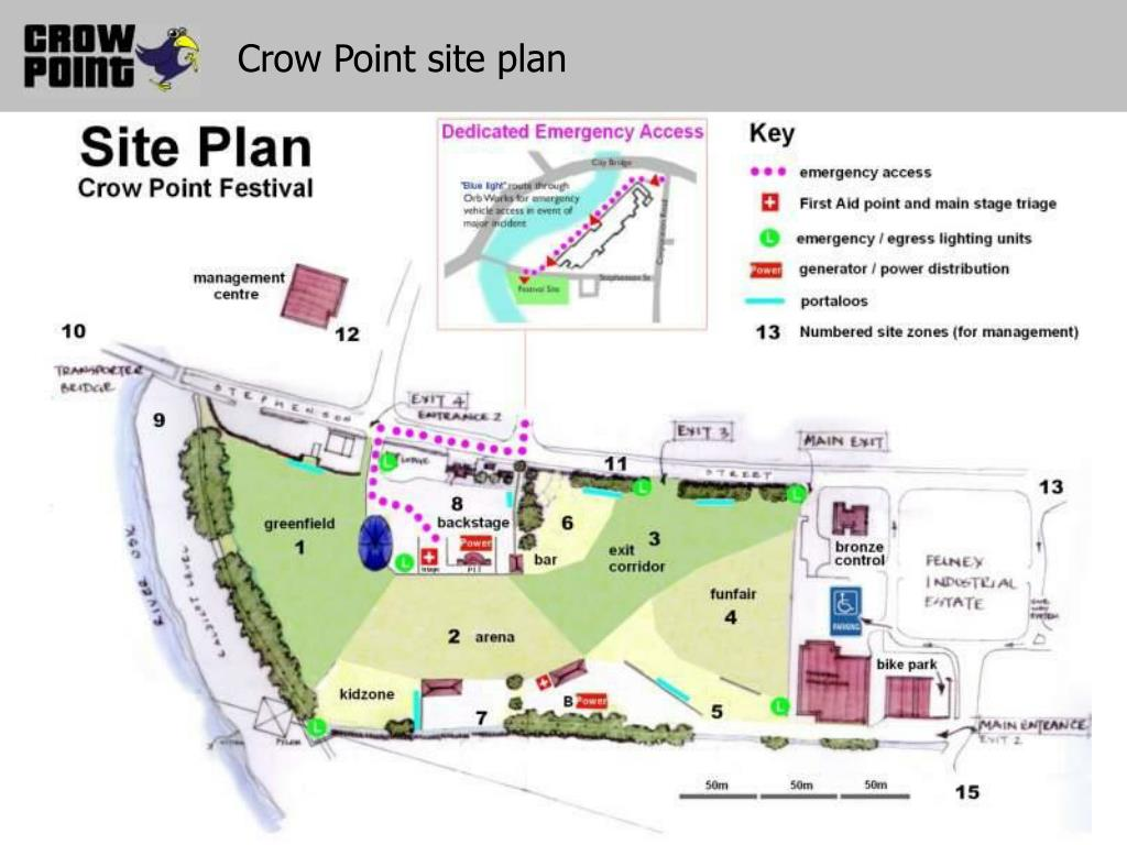 Crow Point site plan