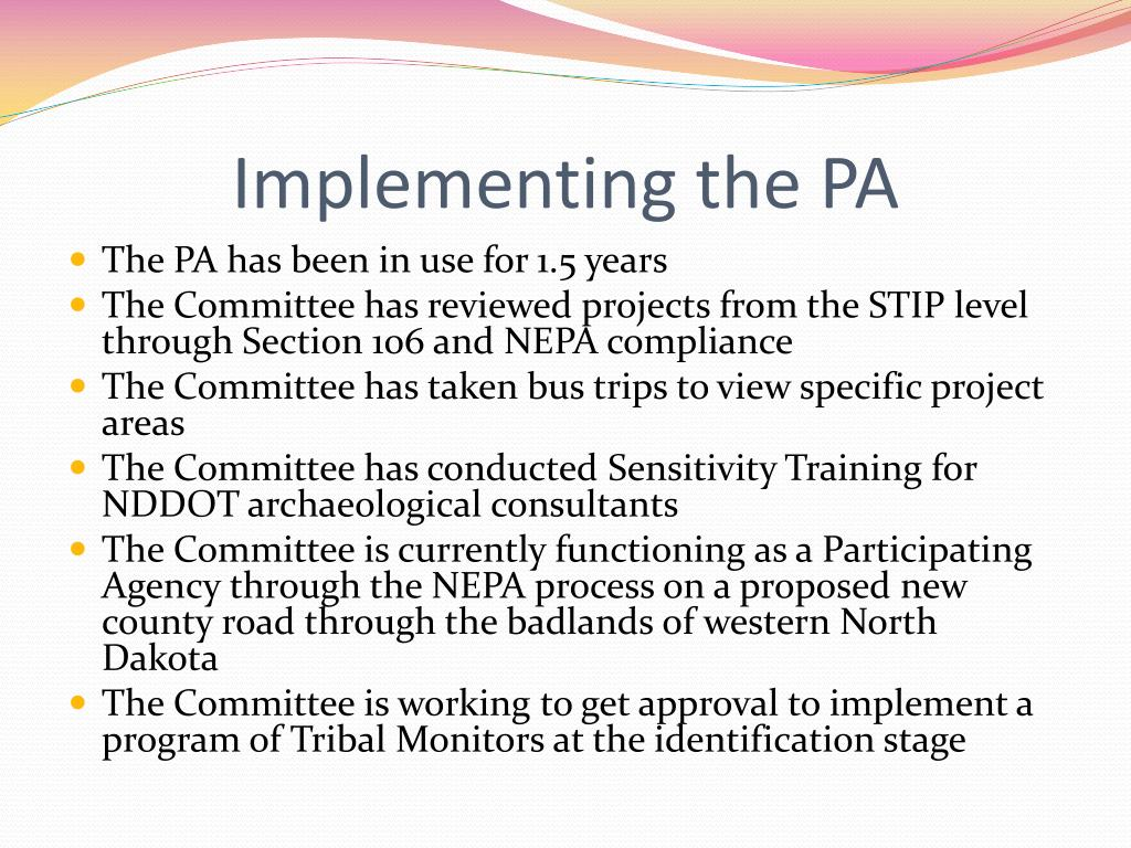 Implementing the PA