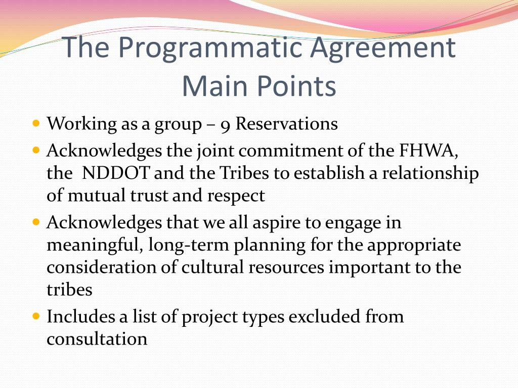 The Programmatic Agreement