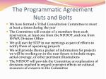 the programmatic agreement nuts and bolts