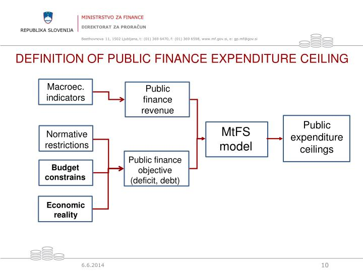 DEFINITION OF PUBLIC FINANCE EXPENDITURE CEILING