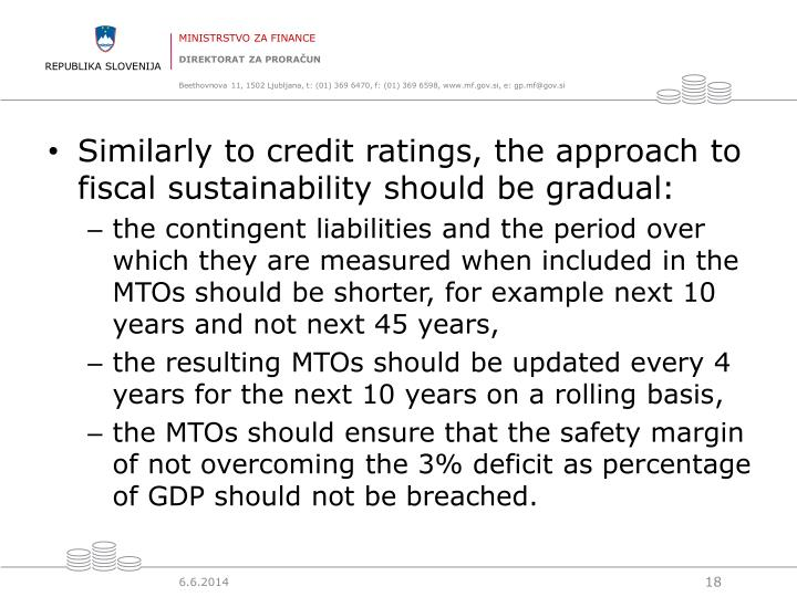 Similarly to credit ratings