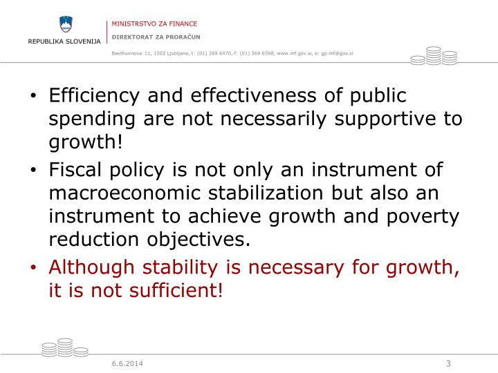Efficiency and effectiveness of public spending