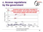 c access regulations by the government