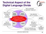 technical aspect of the digital language divide
