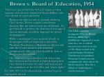 brown v board of education 1954